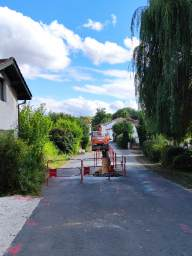 Travaux aménagement du bourg de Rioux-Martin